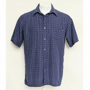 Marmot Men's Blue Short Sleeve Plaid Shirt